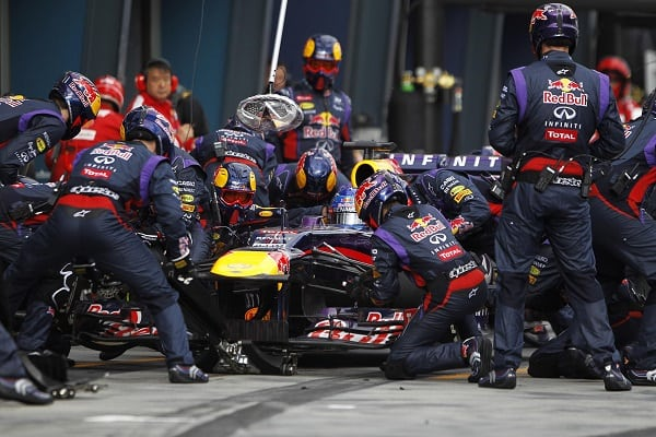 f1 red bull racing piststop world record