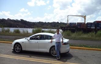 Texas to Panama Model S road trip