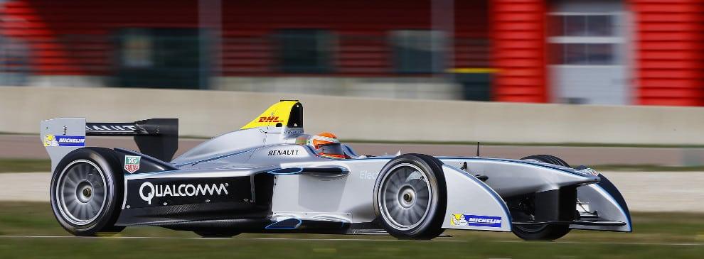 Trulli races a Formula E