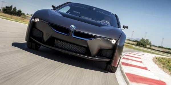 BMW I8 Gets Blackout Treatment 300 Mile Hydrogen Power