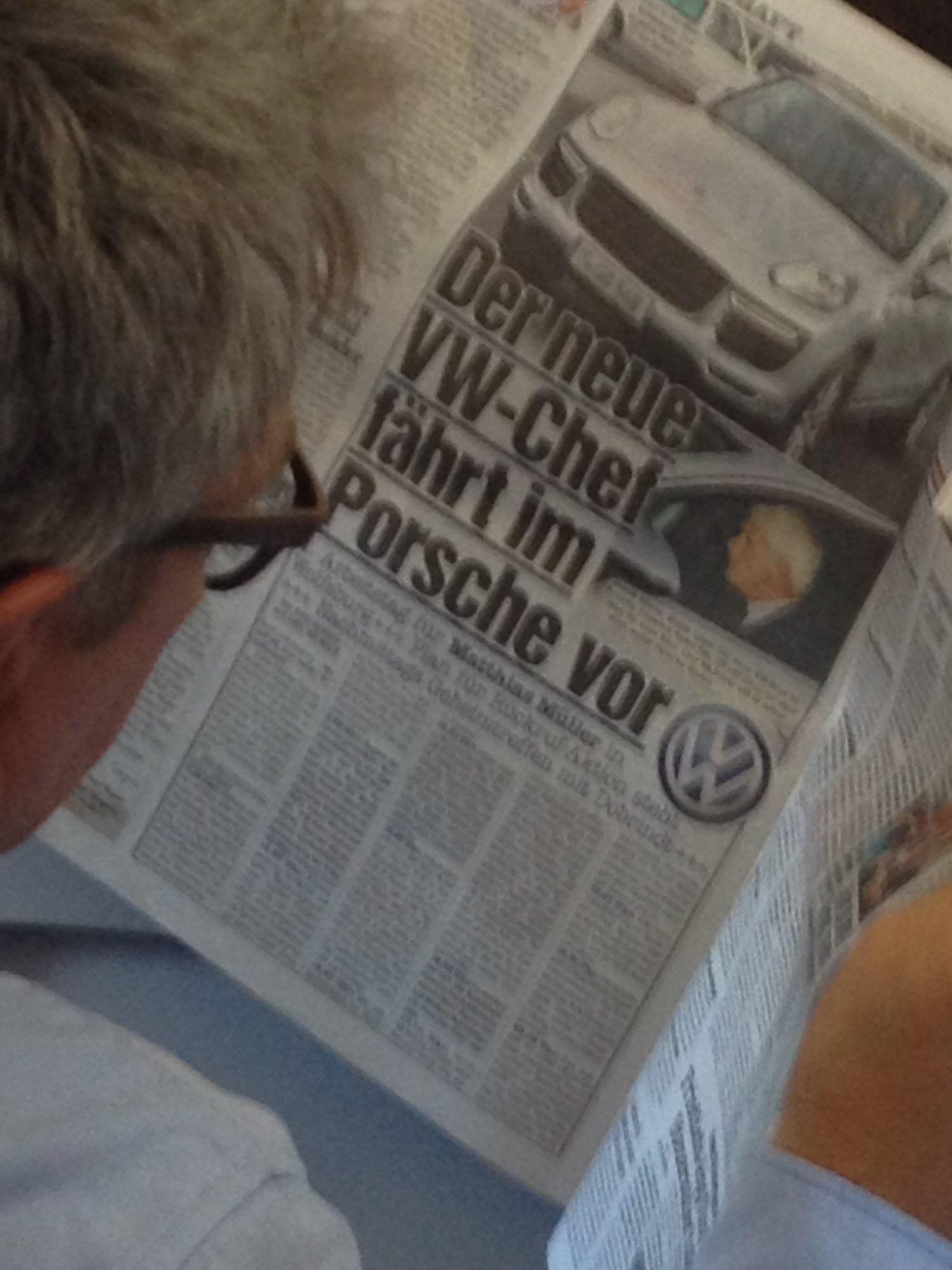 VW CEO farts a Porsche!