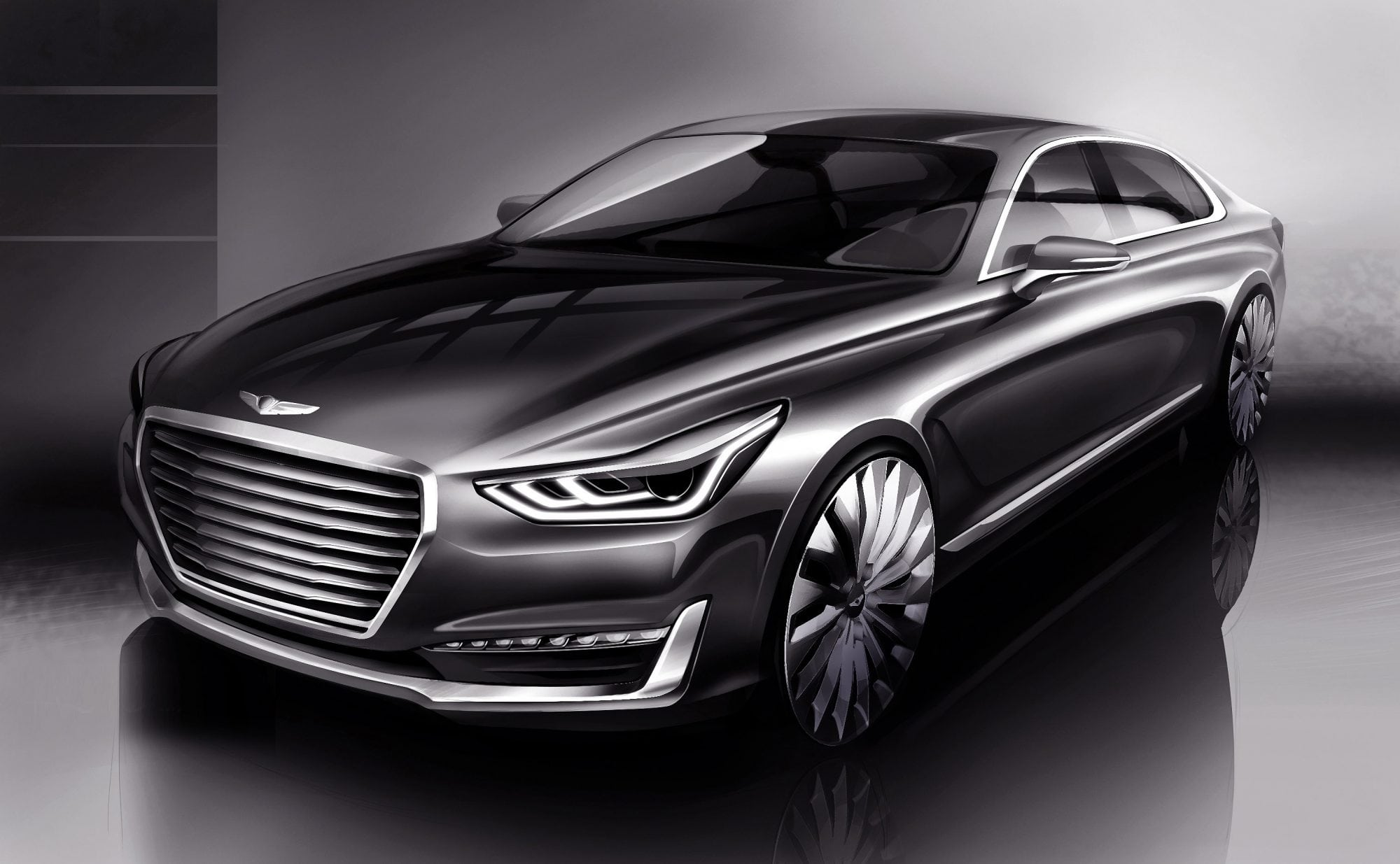 genesis brand launches with g90 luxury flagship sedan