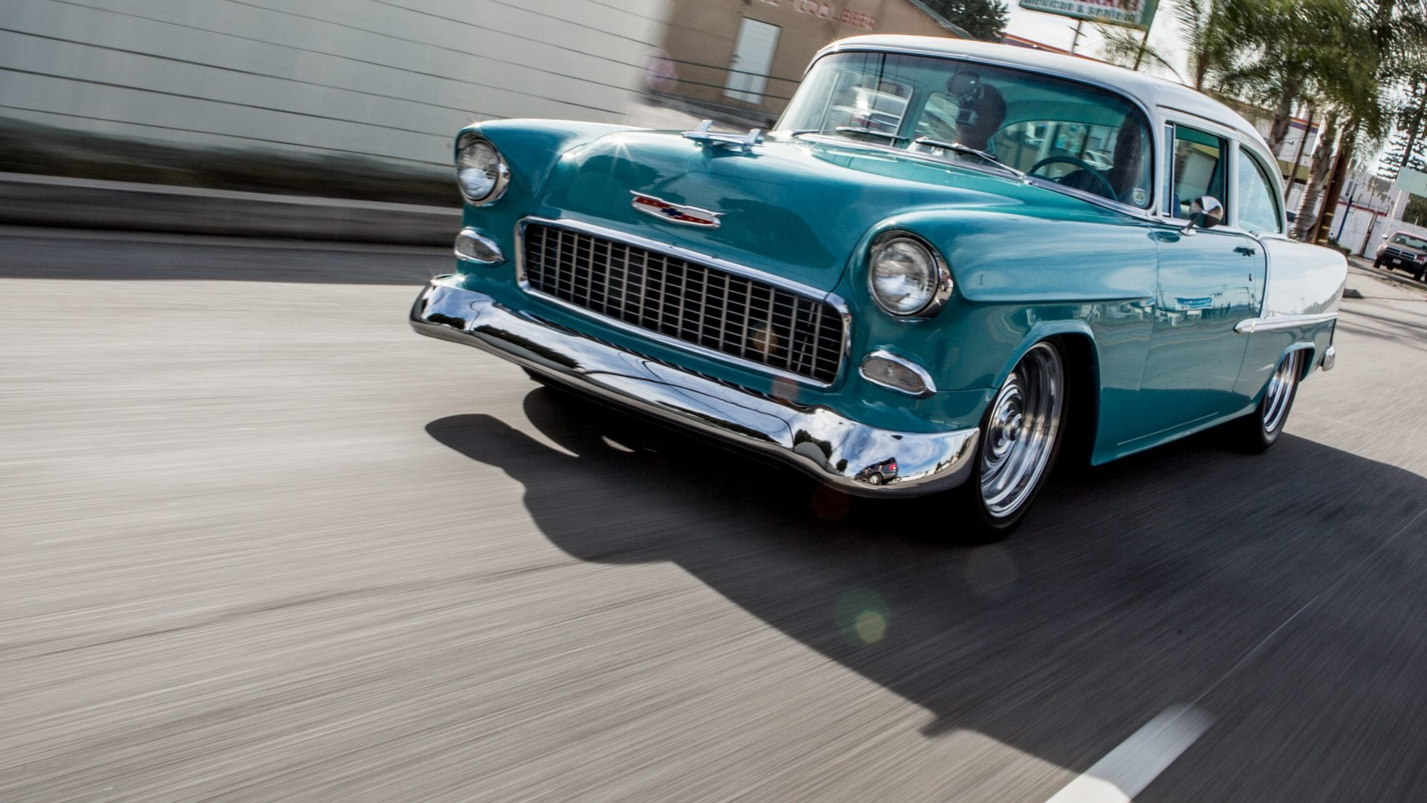 A 1955 Chevrolet Belair 2 Door Coupe Restomod Visits Jay Leno Chevy Bel Air