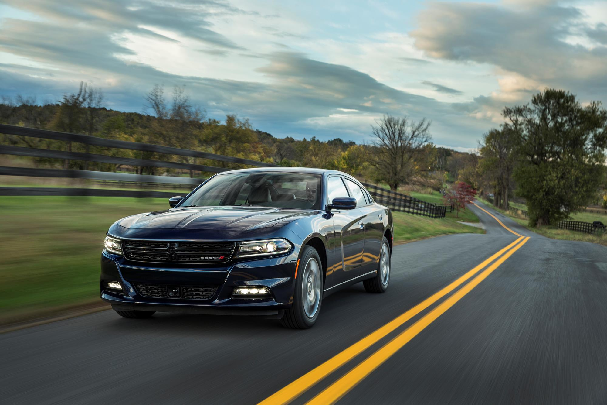 Muscle car adjacent V6 AWD Dodge Charger is more family
