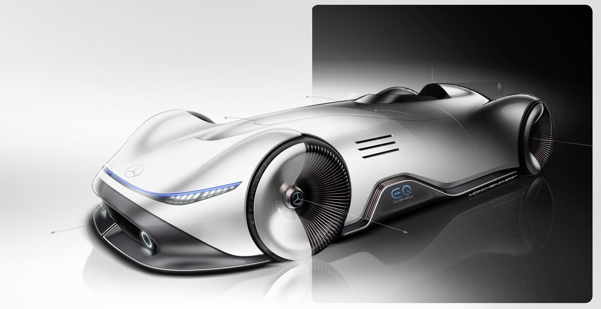 Mercedes Benz EQ Silver Arrow Celebrates Monterey Car Week